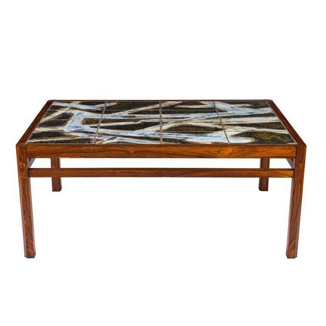 Danish Abstract Tile Coffee Table - Image 3 of 10