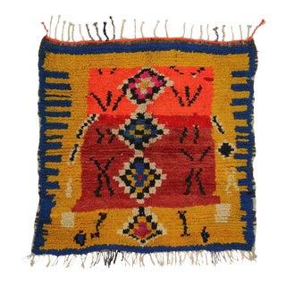 Vintage Berber Moroccan Rug with Tribal Design For Sale