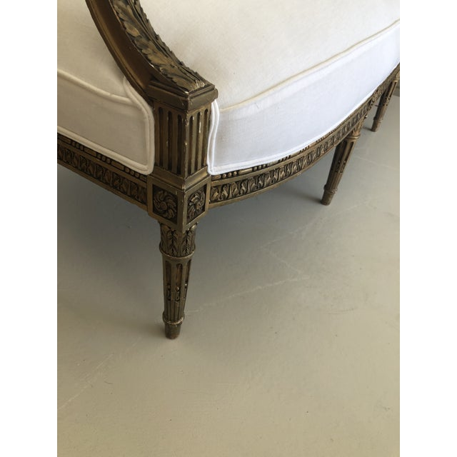 Late 18th Century Late 18th Century French Louis XVI Style Carved Settee For Sale - Image 5 of 8