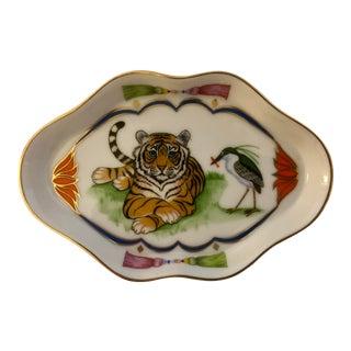 Vintage Lynn Chase Tiger Raj Trinket Dish For Sale