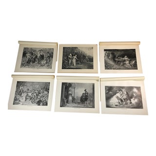 1892 Antique Prints of Scenes From Shakespeare's Comedies - Set of 6 For Sale