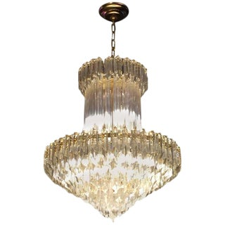 Circa 1970 Camer Mid-Century Italian Murano Glass Chandelier For Sale