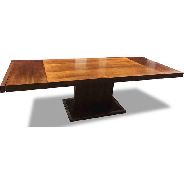 Milo Baughman 1970s Hollywood Regency Milo Baughman for Founders Walnut Extension Dining Table For Sale - Image 4 of 12