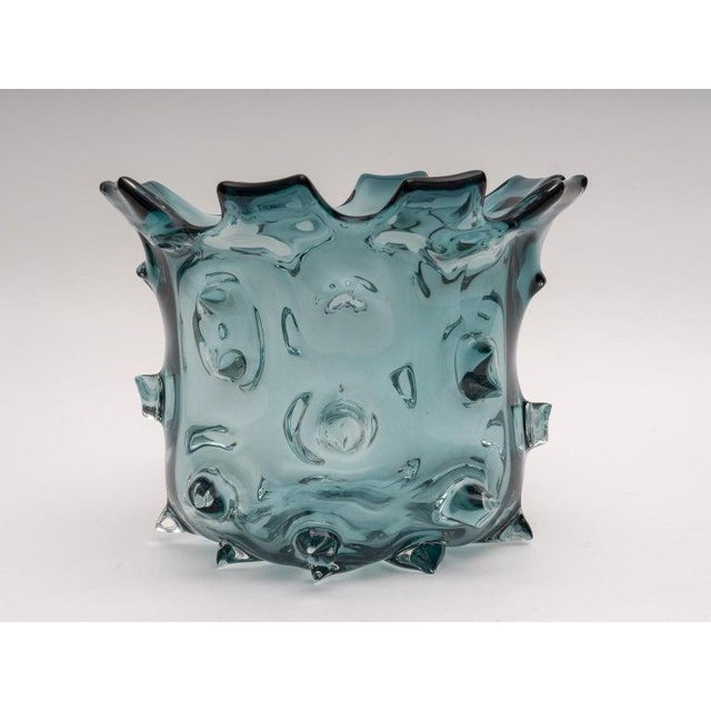 1960s 1960s Blue Murano Glass Vase by Barovier E Toso For Sale - Image 5 of 9
