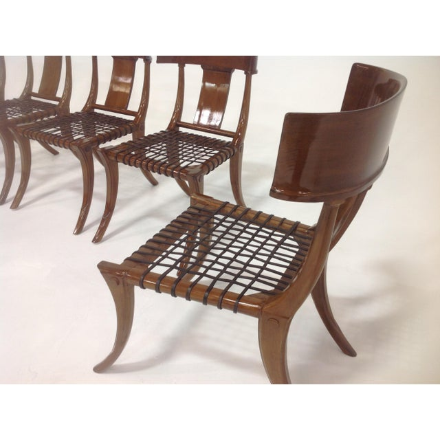 2010s Mid-Century Klismos Style Dining Chairs - Set of 6 For Sale - Image 5 of 7
