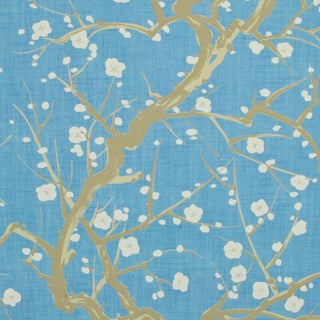 Clarence House Flowering Quince Wallpaper in Sky For Sale
