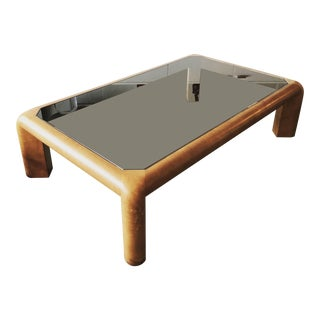 Karl Springer Mark II Large Leather Coffee Table