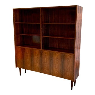 Danish Mid Century Modern Rosewood Bookcase / China Cabinet For Sale
