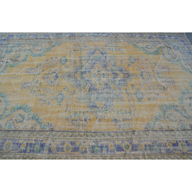 Oushak Area Bohemian Turkish Wool Rug - 6′4″ × 9′5″ - Image 5 of 6