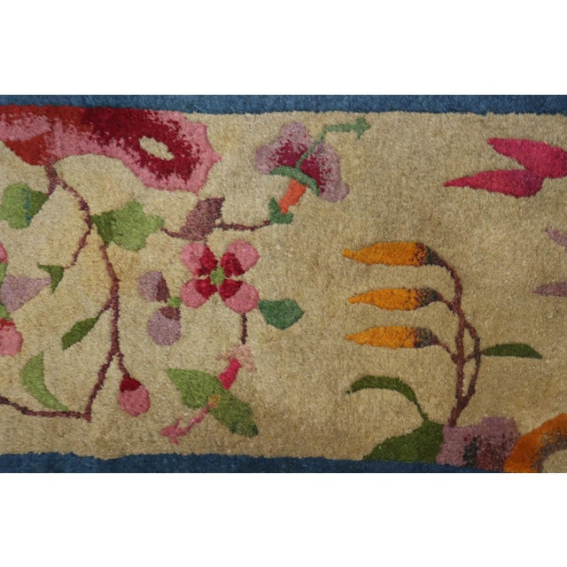 One of a kind, mid 20th-century Hand-knotted Chinese Art Deco Mat. Professionally Washed & personally vetted. Ready for...