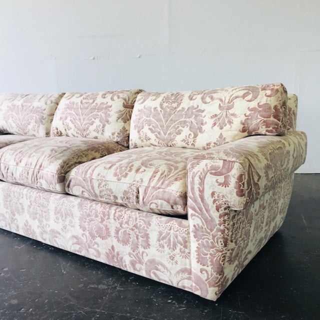 Contemporary Custom Fortuny Sofa, Two Available For Sale - Image 3 of 13