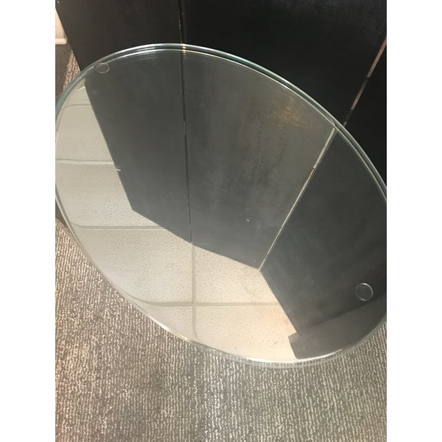 Contemporary Mid-Century Modern Chrome Side Table in the Manner of J. Wade Beam for Brueton For Sale - Image 3 of 3
