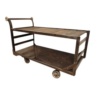 Large Factory Cart Restored For Sale