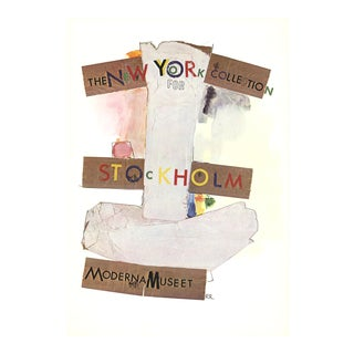 Robert Rauschenberg, New York Collection for Stockholm, Offset Lithograph, 1968 For Sale