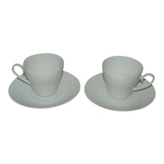 Vintage Rosenthal Romance Teacup & Saucer Sets - a Pair For Sale