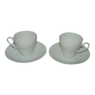 Vintage Rosenthal Romance Teacup & Saucer Sets - Service for 2 For Sale