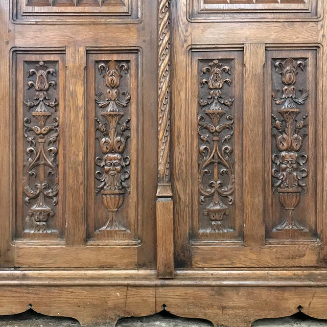 Brown 19th Century French Gothic Bookcase ~ Vitrine For Sale - Image 8 of 13