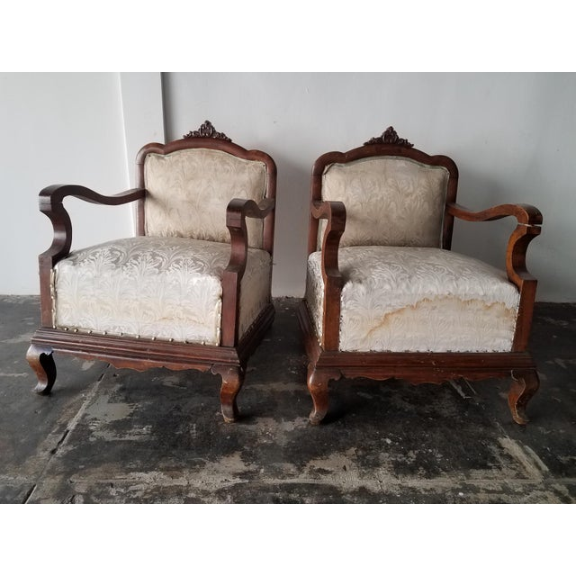 Venation Neoclassical a Pair of Chairs For Sale - Image 4 of 4