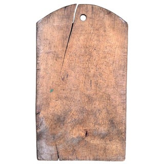 Early 20th Century Italian Wood Cutting Board For Sale