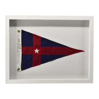 New York Yacht Club Pennant Flag, Framed For Sale