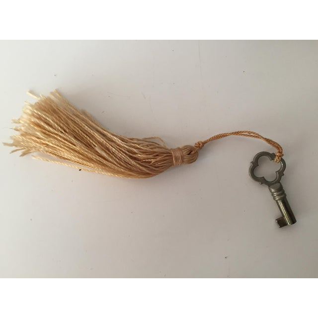 Italian Velvet Jewelry Box & Tassel Key-1965 - Image 5 of 10