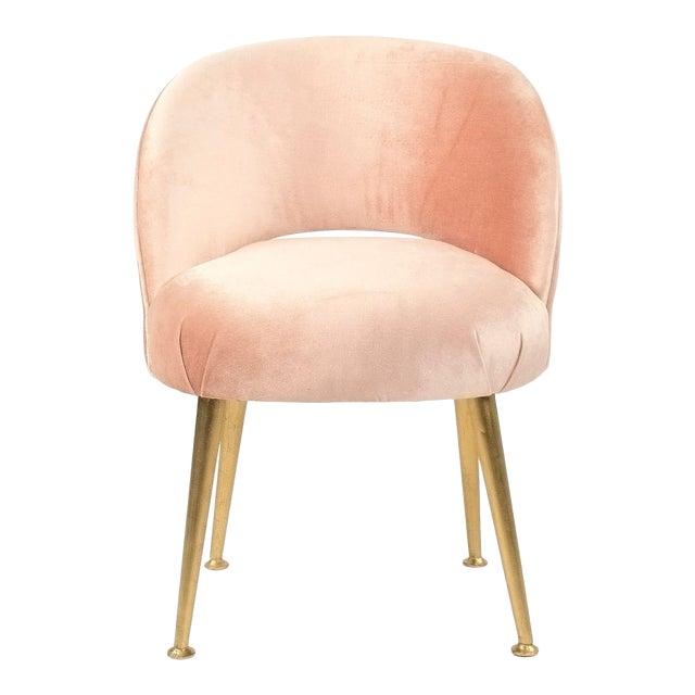 Gait Chair in Pink Velvet For Sale
