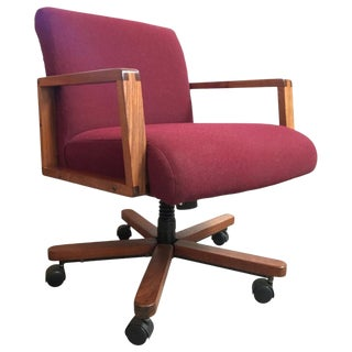 Midcentury Walnut Desk Chair For Sale