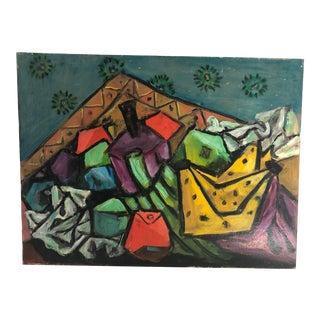 1990s Modernist Still Life Oil Painting For Sale