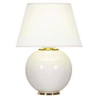 White & Brass Table Lamp