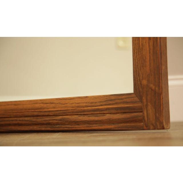 Feudal Oak Jamestown Lounge Carved Frame Mirror For Sale - Image 4 of 12