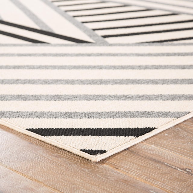 The Patio Begley area rug provides a modern foundation to both patios and high-traffic indoor living spaces. Black and...