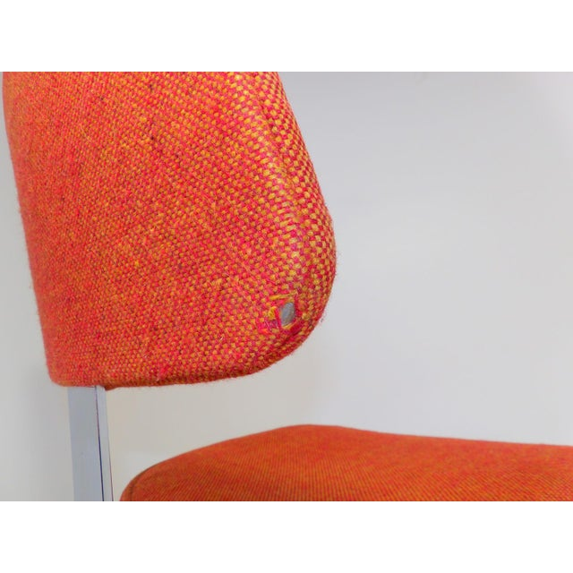 Mid Century Modern Interroyal Orange Wool Office Chair For Sale - Image 11 of 13