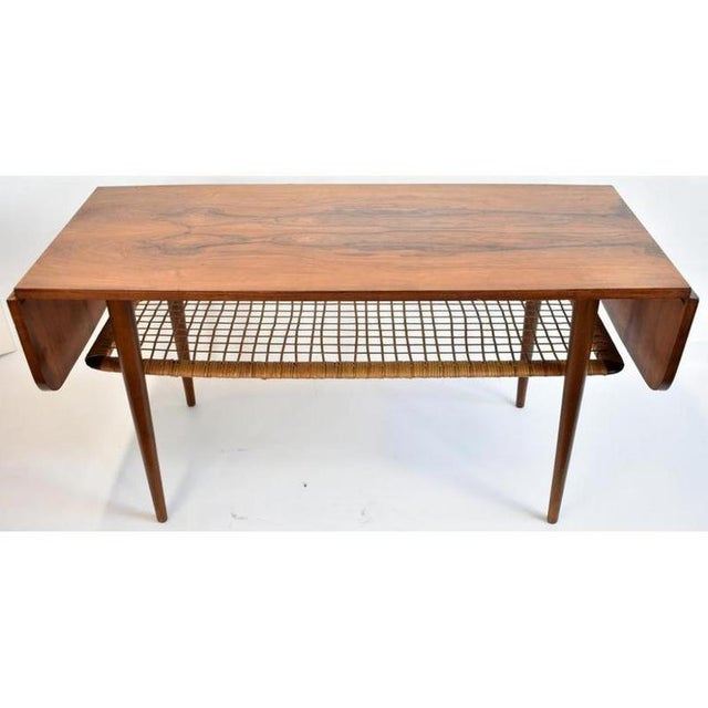 1960s 1960s Danish Rosewood Mid Century Modern Double Leaf Coffee Table For Sale - Image 5 of 6