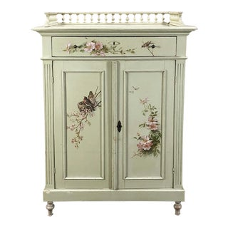 Antique Belle Epoque Painted Cabinet For Sale