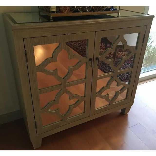 Traditional Mirrored Bar Cabinet For Sale - Image 3 of 8
