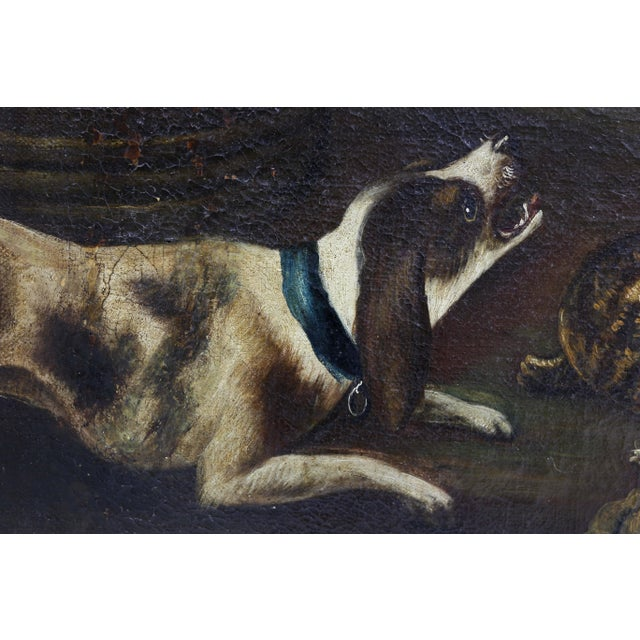Gray Oil on Canvas Painting Attributed to Hondecoeter For Sale - Image 8 of 12
