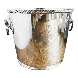 1955 Silver Plated Champagne Bucket From the Ambassador Hotel in Chicago For Sale