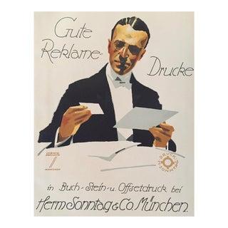 1927 German Art Deco Fashion Poster, Gute Reklame Drucke (Haberdasher) For Sale