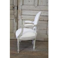 20th Century Louis XVI French Light Gray Armchair - Image 6 of 6