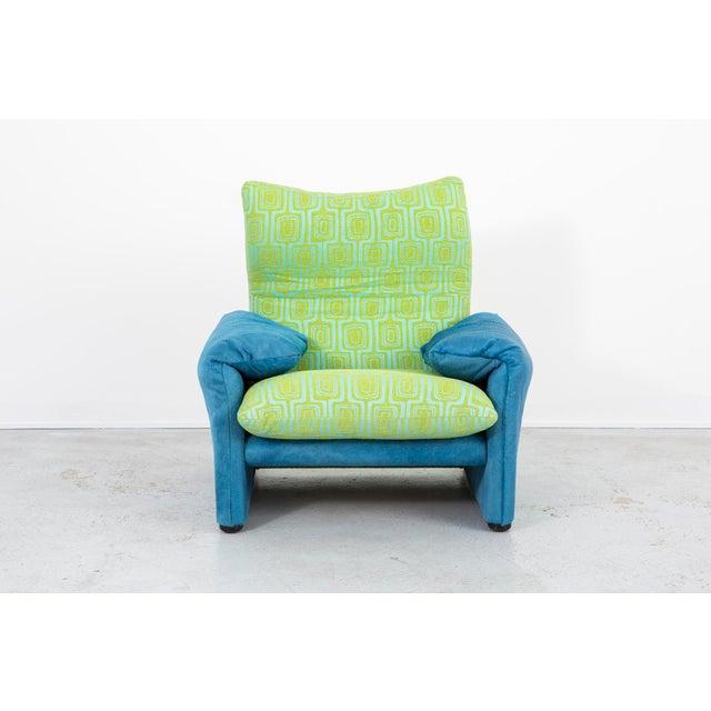 Animal Skin Vico Magistretti Maralunga Chair + Ottoman For Sale - Image 7 of 11
