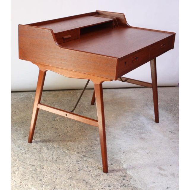 Teak and Brass 'Ladies' Desk by Arne Wahl Iversen - Image 6 of 13