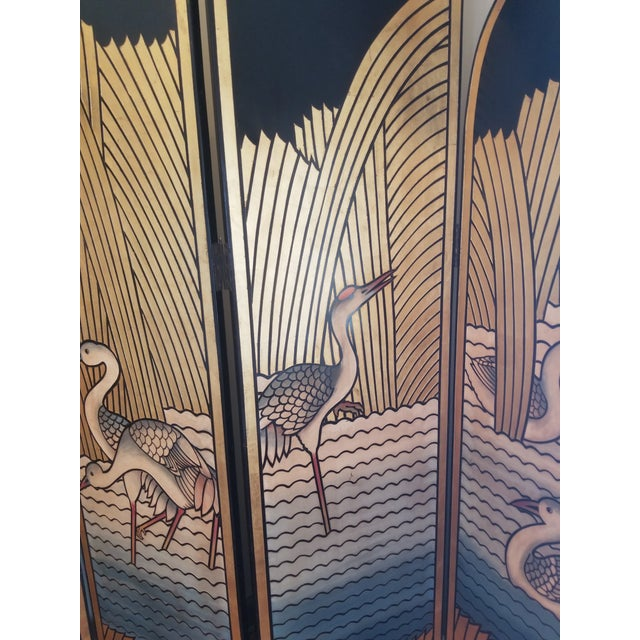 1980's Lacquer Screen Deco Revival For Sale - Image 4 of 7