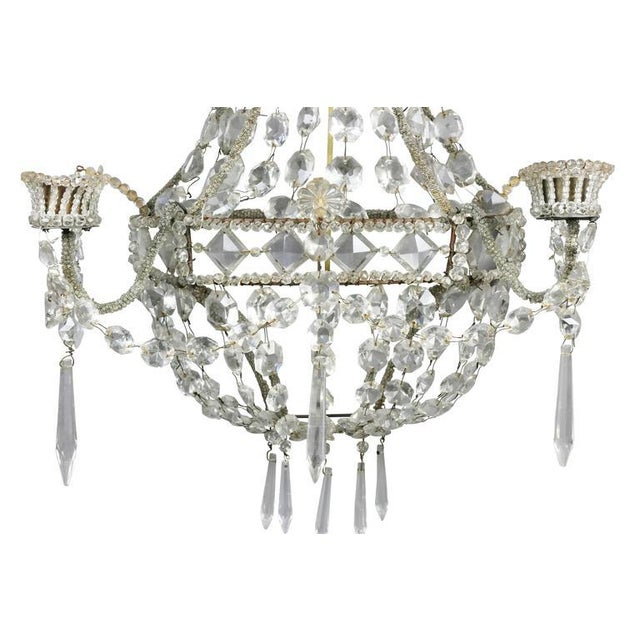 Pair of Classical Style Cut Glass Wall Lights For Sale - Image 4 of 8