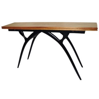 Flip Top Table with Sculptural Legs For Sale