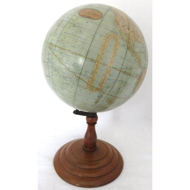 An Exceptionally Nice Antique Library Globe - Atlas. Circa Early 1900s. Rand McNally & Co. New Twelve Inch Terrestrial...