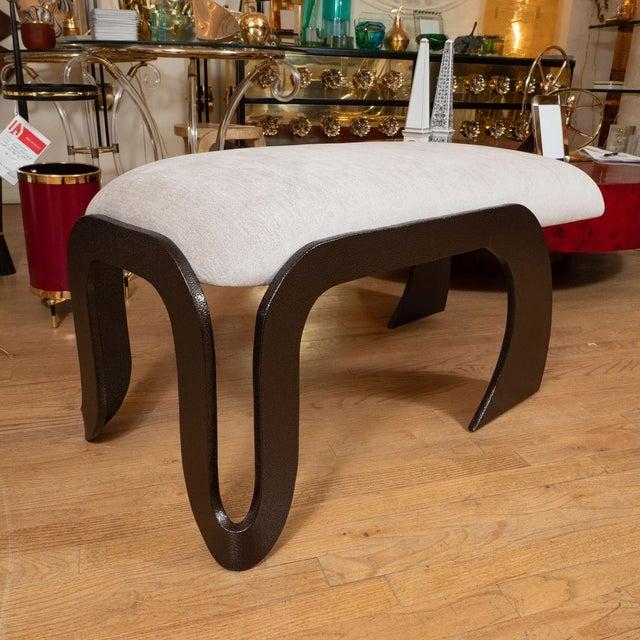 Mid-Century Modern 1960s Rectangular Upholstered Bench For Sale - Image 3 of 5