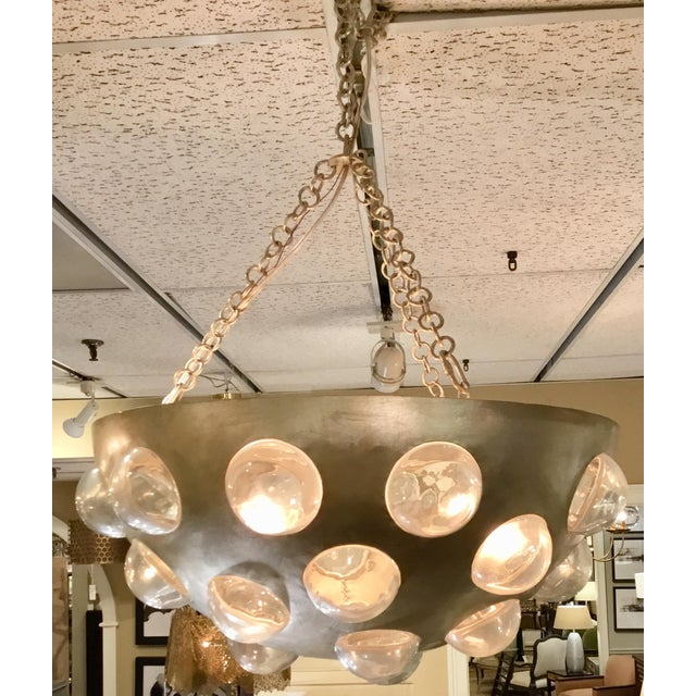 Glass Arteriors Kendra Iron Bowl Chandelier For Sale - Image 7 of 9