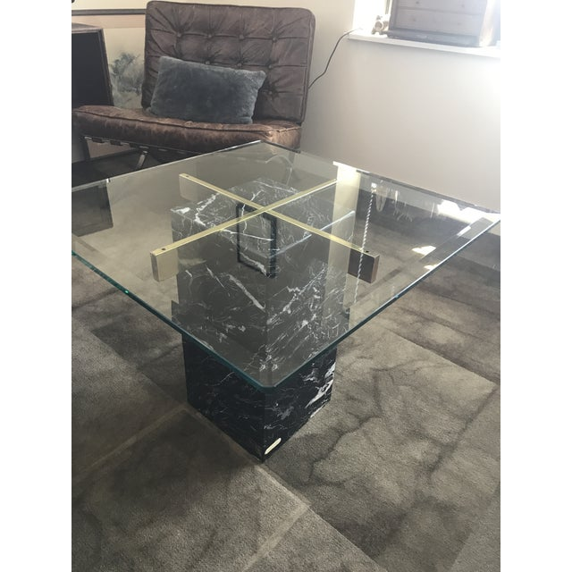 Artedi Artedi Nero Marquina Marble Side Tables - A Pair For Sale - Image 4 of 10