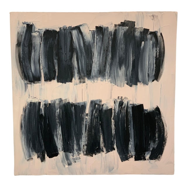 Carolanna Parlato After Melancholia III Abstract Black Beige Painting 2019 For Sale