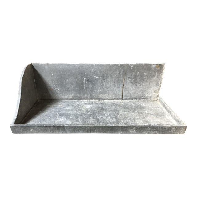 1950s French Zinc Basin For Sale